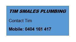 Sponsor – Tim Smales Plumbing